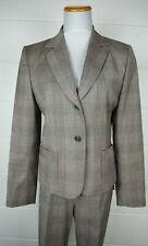 Antonio Melani Pink Brown Plaid Pant Suit sz 10