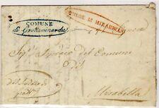 1852 Regno di Napoli - prefilatelica da Grottaminarda a Mirabella - rarità