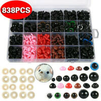 838x Plastic Safety Eyes Noses for Teddy Bear Doll Animal Toys Making Craft DIY