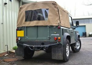 "Land Rover Defender 90"" Full Hood Sand Canvas  TD5/TD4 - Exmoor"
