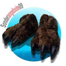 Tier Hausschuhe MONSTER Bären Kralle braun 36 - 46 Schlappen Puschen Pfote Bär