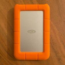 LaCie Rugged Mini 2TB External Hard Drive - Orange +USB-C Cable