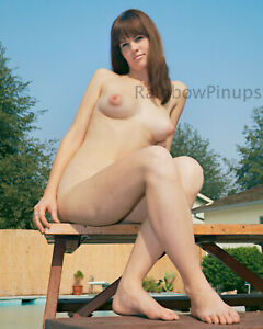 A456 8x10 BUSTY 1960s Pinup, LINDA FRANCIS #3 * BIG POINTY BREASTS! (NUDES)
