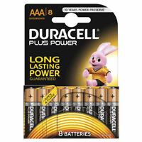 Duracell Plus Power AAA Batteries Duralock LR03 MN2400 Alkaline Battery 8 Pack