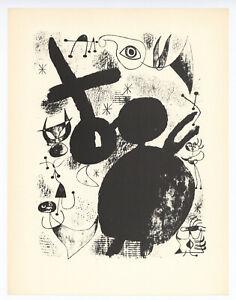 Joan Miro surrealistic composition printed in 1947 - 890306
