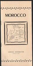 Vintage 1952 Morocco Travel Brochure