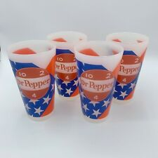 New Dr Pepper Restaurant Style Vintage Logo Plastic Tumblers Cups 16 oz Set of 4