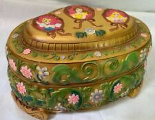 Vtg 1991 Walt Disney Music Box Plays Beauty and the Beast Sankyo Wonderland Rare