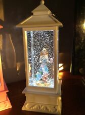 White LED lantern glitter Mermaid water ball snow globe light night lamp