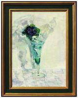 Gaston Sebire Original Oil Painting on Canvas Signed Floral Still Life Artwork