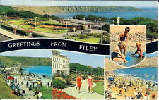 Yorkshire: Greetings from Filey, Multi-view - Unposted 1970's