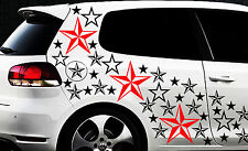 93 Sterne Star Auto Aufkleber Set Sticker Tuning Shirt Stylin WandtattooTribel u