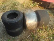 """New listing Set of 4, Used Go Kart Tires, 5"""" 7.1"""" Rear, 4.5"""" Front, barstool racers  - - -"""