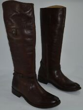 FRYE Womens Shirley Rivet Tall Dark Brown Grainy Leather Boots Size 7 B 3477744