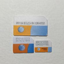 1 PCS AT&T MICRO  SIM CARD For ACTIVATION iPhone 4 4S