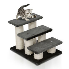 3 Tier Pet Stairs Dog Cat Steps Scatching Post