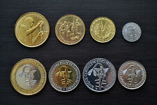West African States Complete set of coins. 1 set of  8 coins. UNC CURRENCY