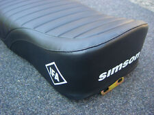 Simson Sitzbank S50 S51 Schwarz Struktur aus Räumung Ladengeschäft   S10034