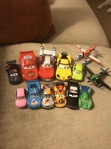 Disney Pixar Cars (11)  & Planes (2) diecast vehicles bundle Job lot