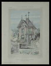 VILLIERS SUR MARNE, MONTGERON, VILLA - 1905 - PLANCHES ARCHITECTURE - BOURNIQUEL