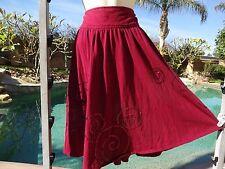 "Disney Mickey Mouse full skirt sequins wine 26"" long M 29"" waist cotton blend"