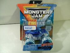 NEW MONSTER JAM FIRE & ICE ALIEN INVASION 4X4 DIE CAST MONSTER TRUCK 1/64