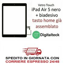 VETRO TOUCH SCREEN PER Apple iPad AIR 5 WiFi e 3G MOD A1474 A1475 A1476 NERO