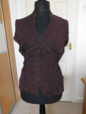 Lovely Ladies Christmas Dinner Creased Top size 16-18