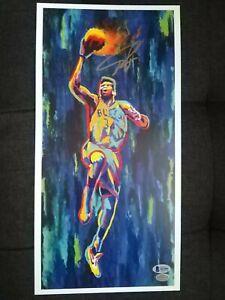Giannis Antetokounmpo - signed - autographed - art print - Beckett