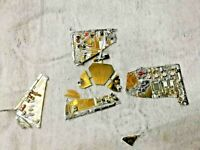 GOLD RECOVERY! broken ceramic board with full gold for gold recovery high yield