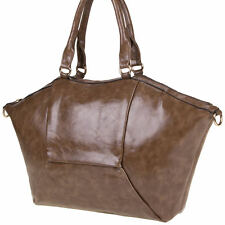 Sac a main , besace shopping marron jerry leather collection