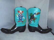 Rocketbuster custom made Cowboy Boots TOUCAN BIRD / MAKE IT RAIN CLOWN W10 / M8