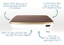 HUMAX fvp-4000t 1TB libero vista PLAY RECORDER BOX, Cappuccino, nuovo di zecca,2 anni