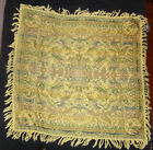 Vtg Italian Tapestry TABLE COVER CLOTH THROW WALL Dancing Girl Music Mandolins