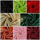 """Stretch Velvet Fabric, 58-60"""" Wide / By The Yard  Many Colors - Free Shipping!!"""
