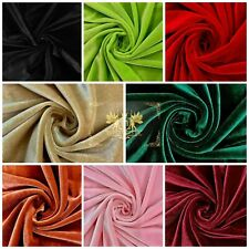 """Stretch Velvet Fabric, 58-60"""" Wide / By The Yard Many Colors - Free Shipping!"""