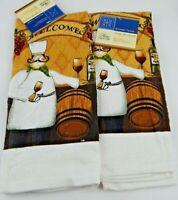 Home Collection 2 Kitchen Towels Bistro Chef 15 x 25