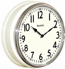 "Westclox 12"" White Vintage Kitchen Wall Clock Quartz Analog in Factory Box"