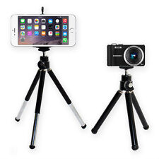 Mini Tripod Stand For Digital Cameras + Mobile Phone Bracket Clip Clamp - Black