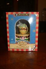 Vintage Mary Engelbreit Christmas Musical Snow Globes Mouse Tea Cup Enesco 2006
