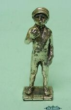 Vintage Silver Plated Boy Miniature Figural Figurine