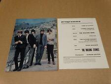 Rolling Stones 1965 UK Exeter Concert Programme (Walker Brothers) + Insert