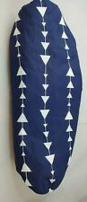 """Ironing Board Cover Blue With White Arrows Padded with Batting 50"""" by 23"""""""