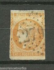 FRANCE - 1870 Y&T 48a 40c orange - emission bordeaux