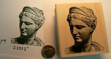 "P19 Roman Goddess ""Diana"" Rubber stamp NEW 2.5x2"""