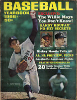 1966 Baseball Yearbook magazine Sandy Koufax Los Angeles Dodgers Mays Mantle, FR