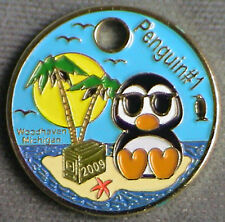 Penguin #1 2009 Pathtag GEOCACHING Pathtags Geocoin # 9125 Beach Star Fish
