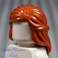 NEW Lego Female/Girl Minifig DARK ORANGE HAIR Long Princess Braided Head Gear