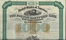 THE BOSTON HARTFORD AND ERIE RAIL ROAD COMPANY....LATE 1860'S $1,000 BOND