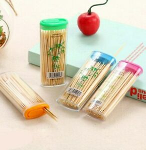New Bamboo Stick Tooth Picks Dental Floss Dental Care Oral Hygiene ToothPicks
